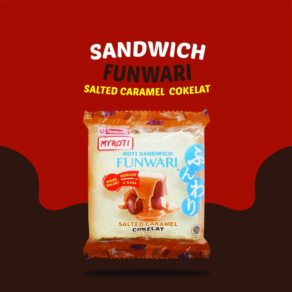 Sandwich Funwari Caramel Cokelat