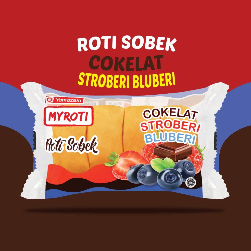 Roti Sobek Cokelat Stroberi Bluberi
