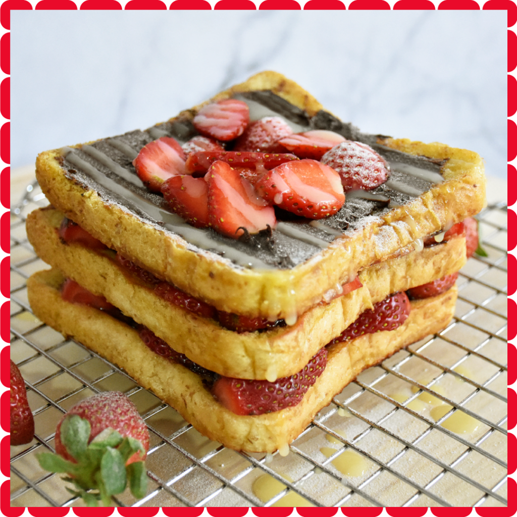 Open Sandwich Chocolate Stawberry
